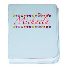 Michaela with Flowers baby blanket