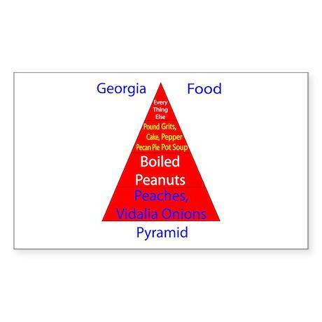 Georgia Food Pyramid Sticker (Rectangle)