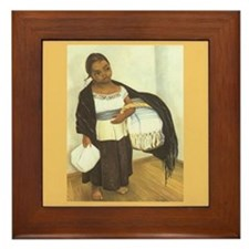 Diego Rivera Nina Painting Art Tile Framed Tile