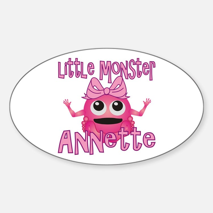 Little Monster Annette Sticker (Oval)