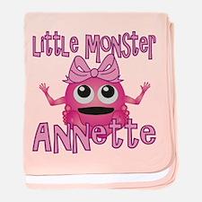 Little Monster Annette baby blanket