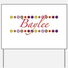 Baylee with Flowers Yard Sign