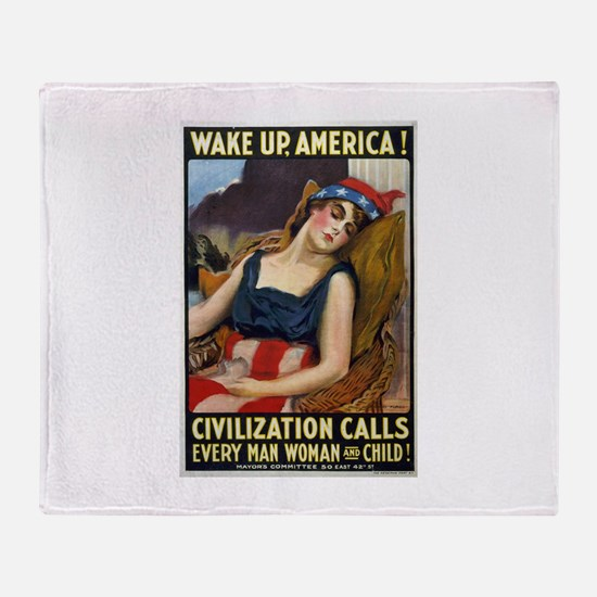 Wake Up America! Throw Blanket