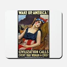 Wake Up America! Mousepad