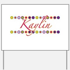 Kaylin with Flowers Yard Sign