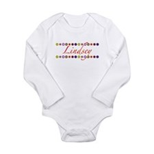Lindsey with Flowers Long Sleeve Infant Bodysuit