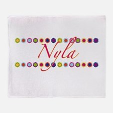 Nyla with Flowers Throw Blanket