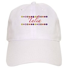 Talia with Flowers Baseball Cap