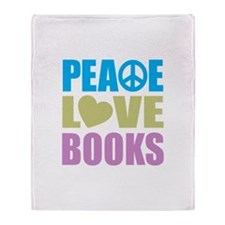 Peace Love Books Throw Blanket