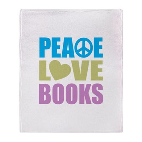 Peace Love Books Blanket