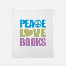 Peace Love Books Throw Blanket