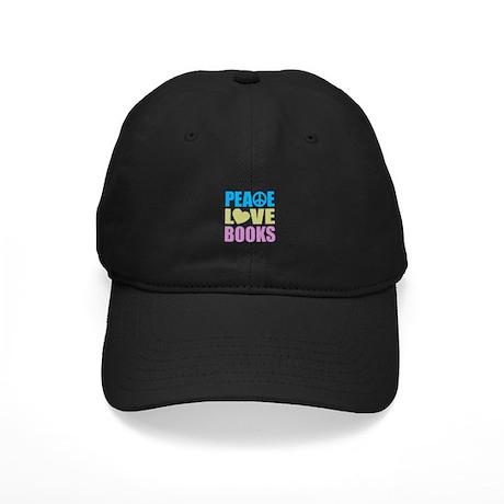 Peace Love Books Black Cap