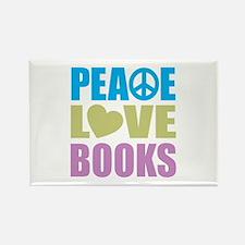 Peace Love Books Rectangle Magnet