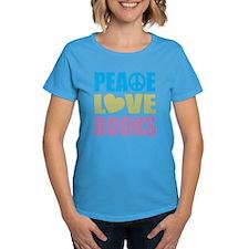 Peace Love Books Tee