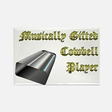 Musically Gifted Cowbell Player Rectangle Magnet