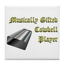 Musically Gifted Cowbell Player Tile Coaster