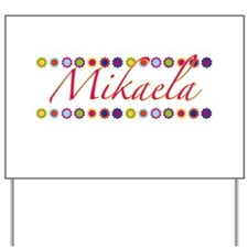 Mikaela with Flowers Yard Sign