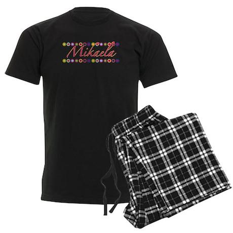 Mikaela with Flowers Men's Dark Pajamas