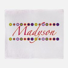Madyson with Flowers Throw Blanket