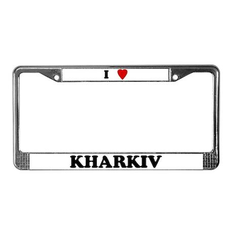I Love Kharkiv License Plate Frame