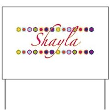 Shayla with Flowers Yard Sign