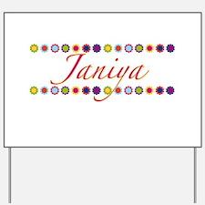 Janiya with Flowers Yard Sign