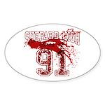 Dexter Class Of 91 Sticker (Oval)