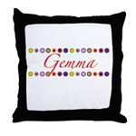 Gemma with Flowers Throw Pillow