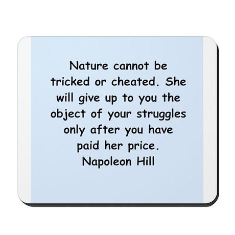 Napolean Hill quotes Mousepad