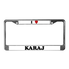 I Love Karaj License Plate Frame