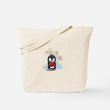 Unique Cute penguin Tote Bag