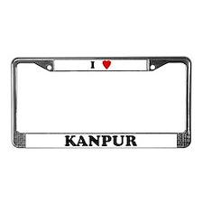 I Love Kanpur License Plate Frame