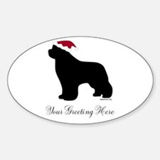 Newf Santa - Your Text Decal