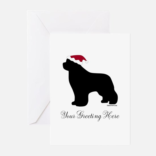 Newf Santa - Your Text Greeting Cards (Pk of 20)