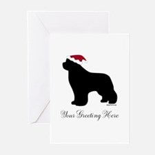Newf Santa - Your Text Greeting Cards (Pk of 10)