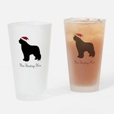 Newf Santa - Your Text Drinking Glass