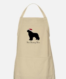 Newf Santa - Your Text Apron