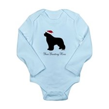 Newf Santa - Your Text Baby Suit