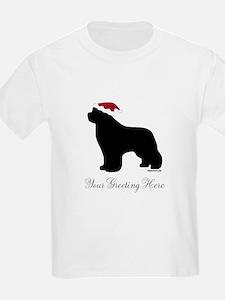 Newf Santa - Your Text T-Shirt