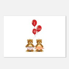 Lovely teddy bears Postcards (Package of 8)