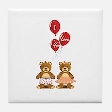 Lovely teddy bears Tile Coaster