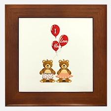 Lovely teddy bears Framed Tile