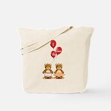 Lovely teddy bears Tote Bag
