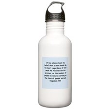 Napolean Hill quotes Water Bottle