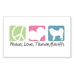 Peace, Love, Tibetan Mastiffs Decal