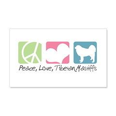 Peace, Love, Tibetan Mastiffs 22x14 Wall Peel