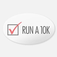 Run a 10k Sticker (Oval)