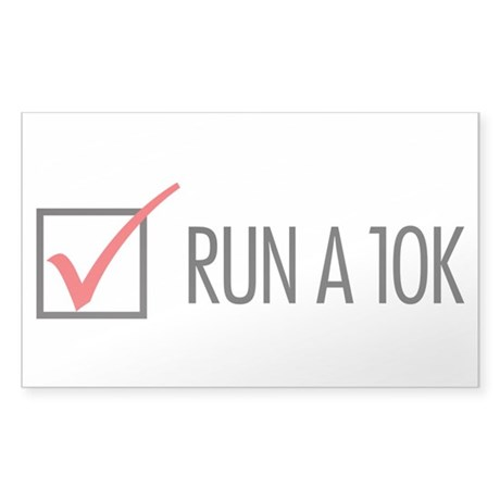 Run a 10k Sticker (Rectangle)