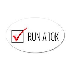Run a 10k 38.5 x 24.5 Oval Wall Peel