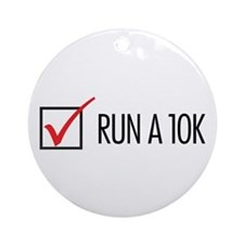 Run a 10k Ornament (Round)